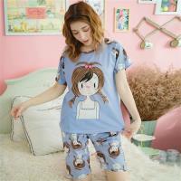 lingling日系 女孩牛奶絲二件式睡衣組(共二色, 全尺碼)