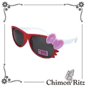 【Chimon Ritz】帥氣貓兒童太陽眼鏡/墨鏡-紅白