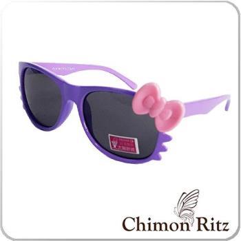 【Chimon Ritz】帥氣貓兒童太陽眼鏡/墨鏡-紫
