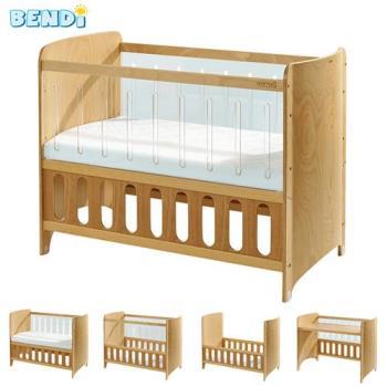 Bendi I-LU Clean透明多功能嬰兒床-中床優惠組(床組+獨立筒床墊+床圍+蚊帳)