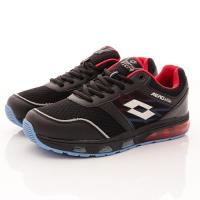 Lotto樂得-緩震乳膠氣墊跑鞋-RFI530黑(男段)