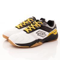 Lotto樂得-宙斯羽球鞋-ISI501白黑黃(男段)