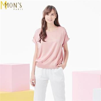 MONS沁膚質感緞面上衣