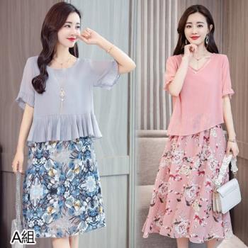韓國KW 型-經典再現韓國空運高質感洋裝二件組