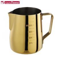 Tiamo 專業內外刻度不鏽鋼拉花杯600cc- 鍍鈦金款(HC7090)