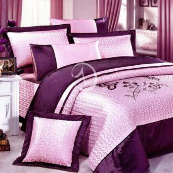 卡莎蘭 奢華柔情 加大絲緞七件式床罩組