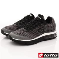 Lotto樂得-避震氣墊跑鞋-SI578灰(男段)