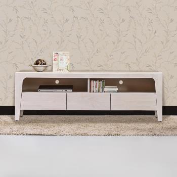 Bernice-森克5.1尺全實木電視櫃/長櫃(洗白色)