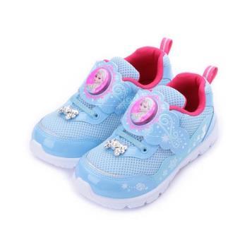 冰雪奇緣 燈殼運動鞋 水藍 FOKX84426 中大童鞋 鞋全家福