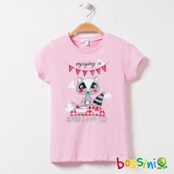bossini女童-印花短袖T恤18嫩粉