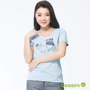 bossini女裝-印花短袖T恤09淡藍