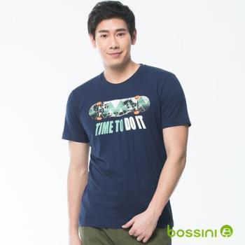 bossini男裝-印花短袖T恤06海藍