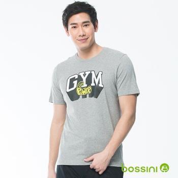 bossini男裝-印花短袖T恤14淺灰