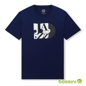 bossini男裝-印花短袖T恤20海藍