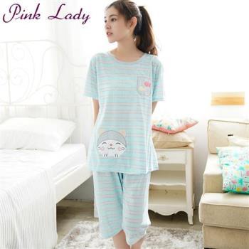 PINK LADY 貓魚如水甜美居家成套睡衣 218-13(藍)