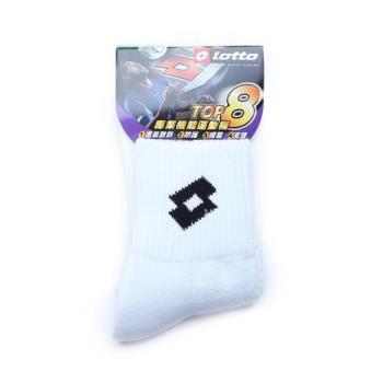 LOTTO 專業機能運動棉短襪 白 鞋全家福