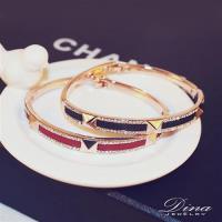 DINA JEWELRY蒂娜珠寶  個性鉚釘款 CZ鑽造型手鍊 (KH91053)