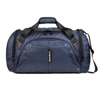 PUSH! 商務旅遊箱包用品防水單肩手提包電腦包商務包旅遊包健身包斜跨包U49-1藍色