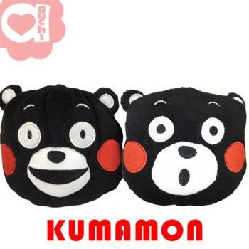 KUMAMON 熊本熊 絨毛超柔外掛包/手拿包/零錢包 附皮質掛帶及手機掛繩 Smile/Oh! 兩款