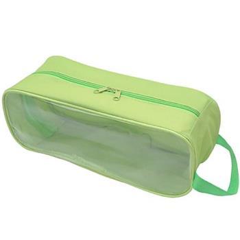 全新福利品月陽旅行外出用透明窗手提防水透氣鞋袋收納鞋包(NGSH3)