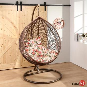 LOGIS 棕毬果休閒吊籃椅 吊椅 鳥巢椅 【CM】