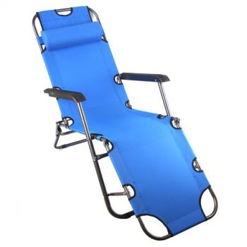 TreeWalker 單人三段式躺椅(露營床)-藍