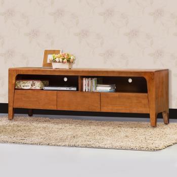 Bernice-森克5.1尺全實木電視櫃/長櫃(柚木色)