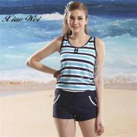 泳之美品牌 時尚亮眼兩件式連身褲泳裝 NO.28615