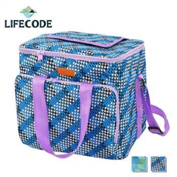 LIFECODE 法頌肩背野餐保冰袋-2色可選