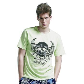 【滑雪家SKISPORTS】排汗透氣高精梳純棉T恤-T5100-21螢光綠(M~XL)