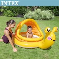 INTEX BABY小蝸遮陽幼兒戲水池145x102x74cm(53L)適用1-3歲(57124)