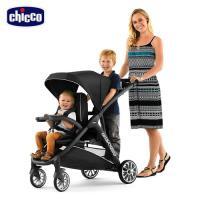 chicco-Bravo for 2雙人秒收手推車-絕對黑