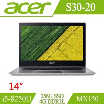 Acer宏碁 Swift 3 效能筆電 S30-20-553D 14吋/i5-8250U/4G/256G SSD/NV MX150