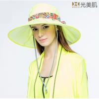 【HOII光美肌】HOII后益先進光學布-機能美膚光花樣法式圓筒帽-UPF50抗UV涼感(3色)