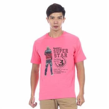【滑雪家SKISPORTS】排汗透氣高精梳純棉T恤-T2100-14玫瑰紅(M~XL)