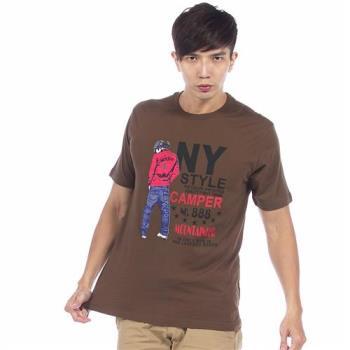 【滑雪家SKISPORTS】排汗透氣高精梳純棉T恤-T1100-16咖啡(M~XL)