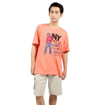 【滑雪家SKISPORTS】排汗透氣高精梳純棉T恤-T2100-17玫瑰紅(M~XL)