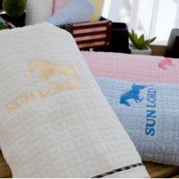 小格花布薄款純棉浴巾 (3條  組合優惠價)   ~.~台灣興隆毛巾製~.~攜帶方便 易乾