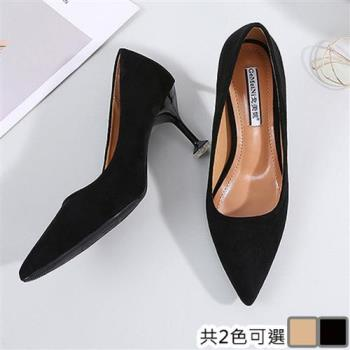 【Alice 】 (預購)時尚經典風尖頭細跟鞋
