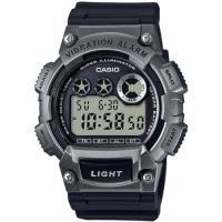 CASIO 靜音振動數位電子腕錶-黑X鐵灰(W-735H-1A3)