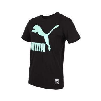 PUMA 流行系列男LOGO短袖T恤-短T 慢跑 路跑