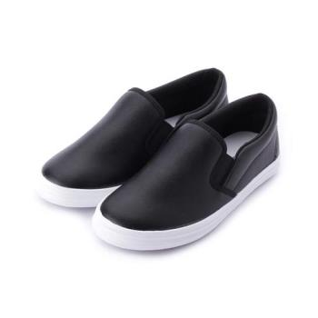 GIOVANNI VALENTINO 素面鬆緊休閒鞋 黑 中大童鞋 鞋全家福