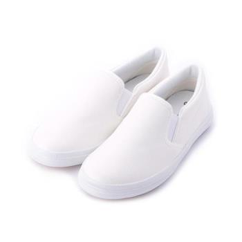 GIOVANNI VALENTINO 素面鬆緊休閒鞋 白 中大童鞋 鞋全家福