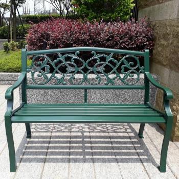 BROTHER 兄弟牌 雙人鋁合金公園椅-墨綠色