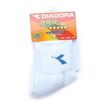 DIADORA 氣墊底運動襪 白藍 大童 鞋全家福