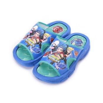 戰鬥陀螺 卡通防水套式拖鞋 藍 BEKS75706 中大童鞋 鞋全家福