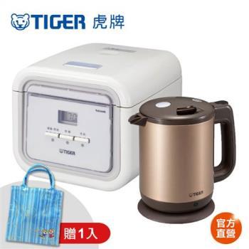 【小資家電組】TIGER 虎牌3人份tacook微電腦電子鍋(JAJ-A55R)+0.8L快煮壺(PCD-A08R)
