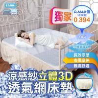 日本三貴SANKi 涼感紗立體3D透氣網床墊