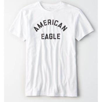 American Eagle 2018男時尚子母款白色圓領短袖ㄒ恤(預購)