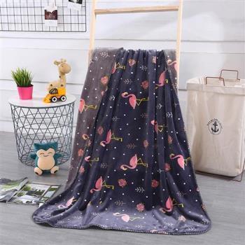 FOCA  千鳥時光  北歐風-小清新云芙絨透氣空調毯-韓國設計